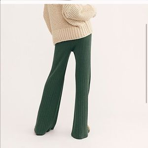 NWT Free People ribbed flare pant.
